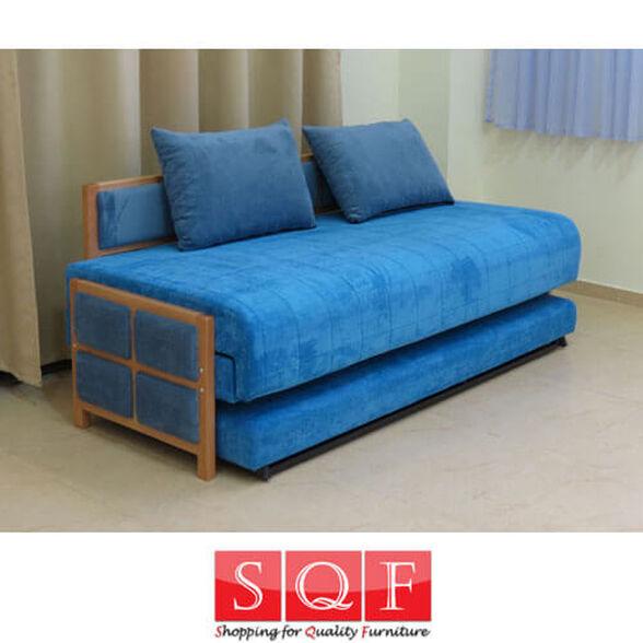 ספת נוער נפתחת למיטה זוגית או ל-2 מיטות נפרדות מרופדת בבד קיו איכותי במיוחד, , large image number null