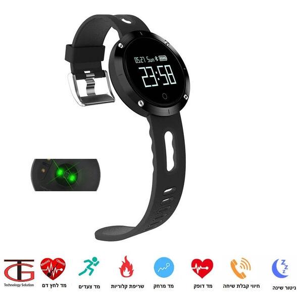 שעון ספורט טאץ' חכם עם מד דופק ומד לחץ דם מובנים כולל מד צעדים,מדידת מרחק וקלוריות תומך IPHONE/ANDROID, , large image number null