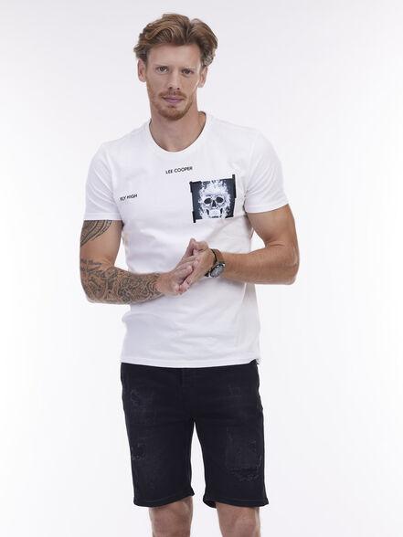 חולצת טי בייסיק קצרה, , large image number null