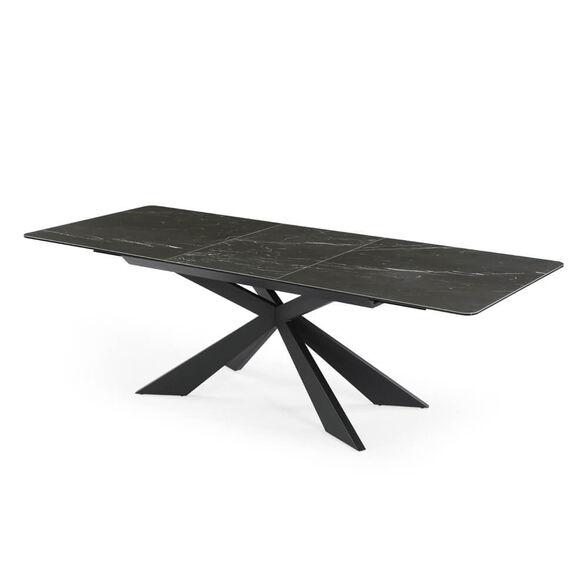 שולחן אוכל קרמיקה מפואר באורך 1.8 מ' נפתח ל- 2.4 מ' עם רגל מתכת HOME DECOR דגם רונדה , , large image number null
