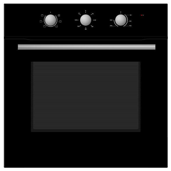 תנור בילד אין מכני MIDEA | תא אפייה בנפח 70 ליטר | עם 6 תכניות דירוג  זכוכית שחורה דגם 65CME10004 , , large image number null