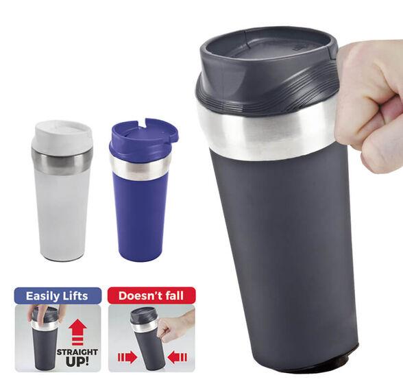 כוס טרמית עם וואקום כנגד החלקה ושפיכת משקה   3 צבעים לבחירה, , large image number null