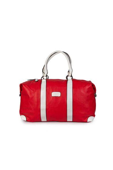 תיק נסיעות BRENDA דמוי עור וקל משקל מבית JUST_צבע אדום, , large image number null
