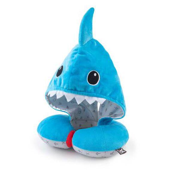 כרית תמיכה לראש בשעת שינה עם ברדס להצללה וחימום  - כריש, , large image number null