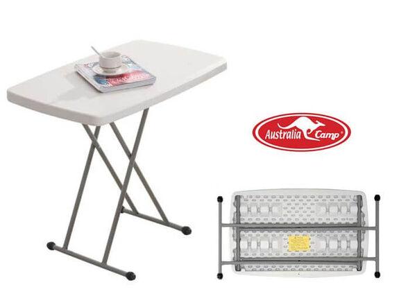 שולחן מתקפל מתכוונן 4 מצבי גובה |עמיד וחזק ונוח לאחסון | צבע לבחירה |מבית Australia Camp, , large image number null