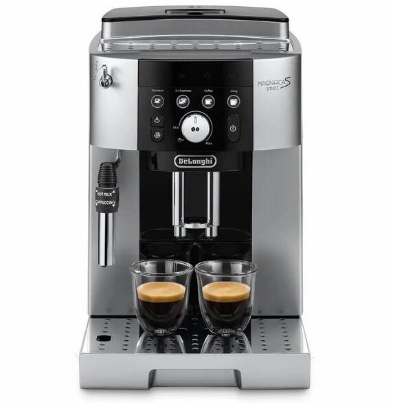 """מכונת קפה אוטומטית הכנת 2 כוסות אספרסו בלחיצת כפתור ו-מערכת הקצפת חלב ידנית דגם ECAM250.23.SB מבית DELONGHI   מארז קפה 2 ק""""ג DeLonghi דגם DLP255P מתנה  , , large image number null"""