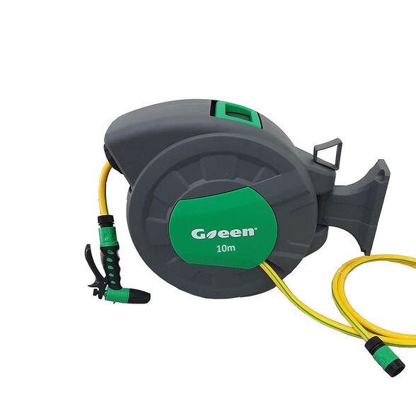 """גלגלת אוטומטית Green  צינור בקוטר """"1/2 אורך 10 מטר באיכות גבוהה (צהוב) שאינו מתקפל, , large image number null"""