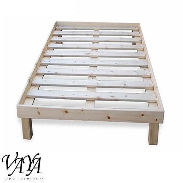 """מיטת יחיד 80*190 ס""""מ מעץ מלא כולל מסגרת למזרן דגם תומר, , large image number null"""