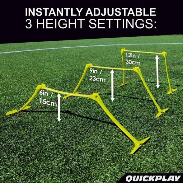 סט 6 משוכות מתכווננות מקצועיות   מותג העל בתחום שערים וציוד לכדורגלנים QUICKPLAY, , large image number null