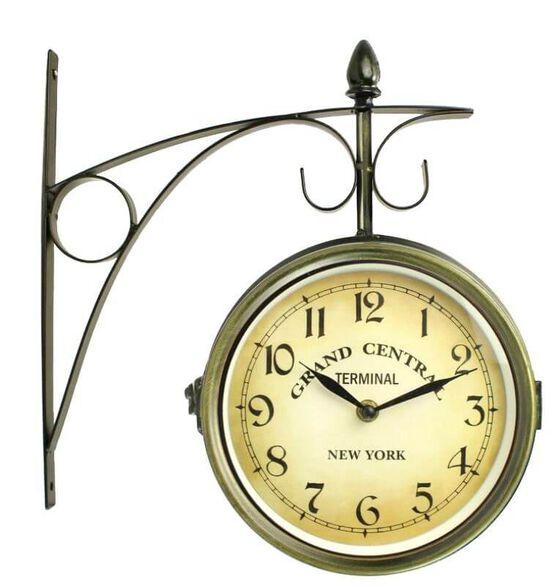 שעון קיר ממתכת בעיצוב רכבת מבית TUDO DESIGN ב- 3 צבעים לבחירה_זהב, , large image number null