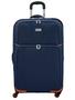 מזוודה בד 20 אניץ צבע כחול כתום