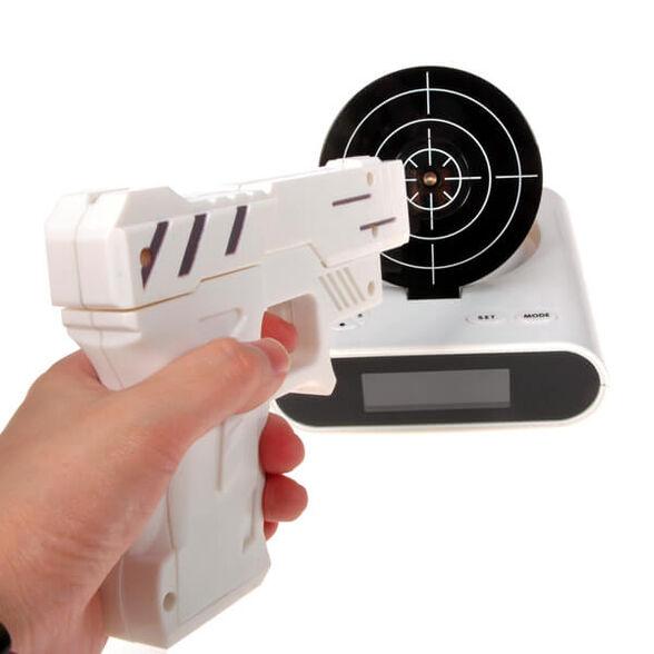 שעון מעורר בעיצוב אקדח לייזר קליעה למטרה, , large image number null