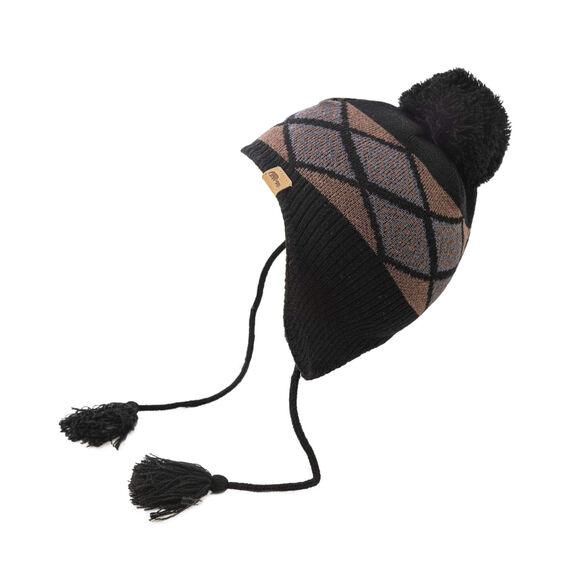 כובע צמר NEPAL עם הגנת פליס פנימית מבית GO NATURE_צבע חום, , large image number null