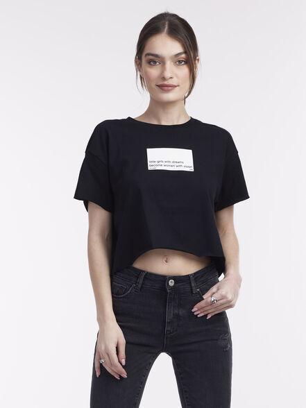 חולצת בטן עם הדפס, , large image number null