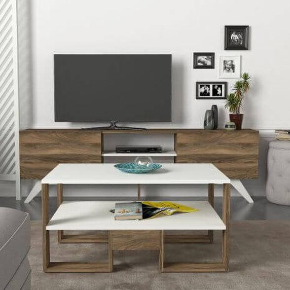 סט שולחן + מזנון 1.8 מטר דגם MIRA מבית GEVA DESIGN, , large image number null