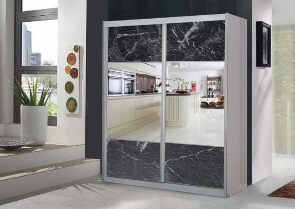 ארון הזזה 2 דלתות כולל מראות מבית House Design - דגם דניאל - פורמיקת שיש, , large image number null
