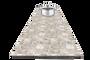 ראנר לכלים חמים 30X120 שיש קרם. הראנר המקורי לכלים חמים ראנר דקורטיבי לשולחן עם אפקט ההגנה מבודד