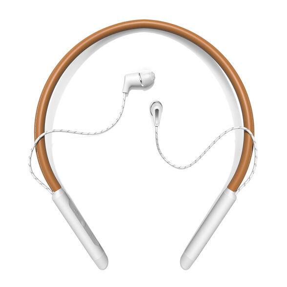 אוזניות עורף אלחוטיות Bluetooth דגם T5 Neckband מבית Klipsch _חום משולב לבן, , large image number null
