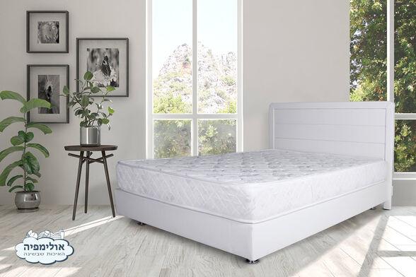 מיטה מרופדת בדמוי עור דגם 6009 + מזרן קפיצים מתנה , , large image number null