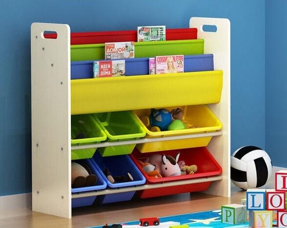 ארגונית צעצועים משולבת עם ספרים דגם 1007 מבית TAKE IT, , large image number null