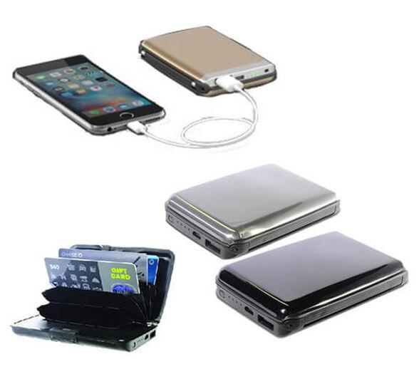 I Wallet המקורי של SWISS BAGS ארנק כרטיסי אשראי קשיח ומעוצב כולל פאוור בנק מטען מהיר לסמארטפון   צבע לבחירה   ארנק שני מוזל, , large image number null