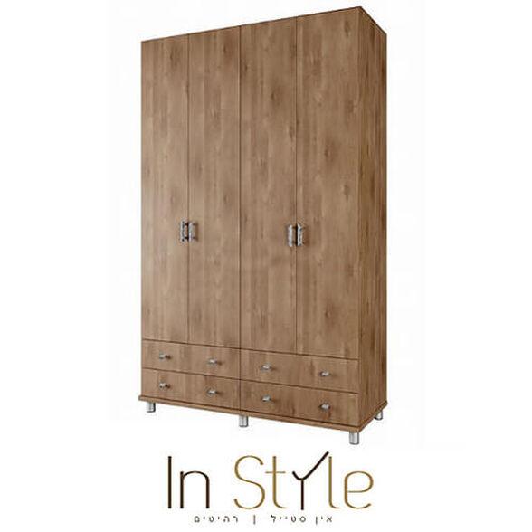 ארון ארבע דלתות יוקרתי בעיצוב חדשני ונקי גלבוע, , large image number null
