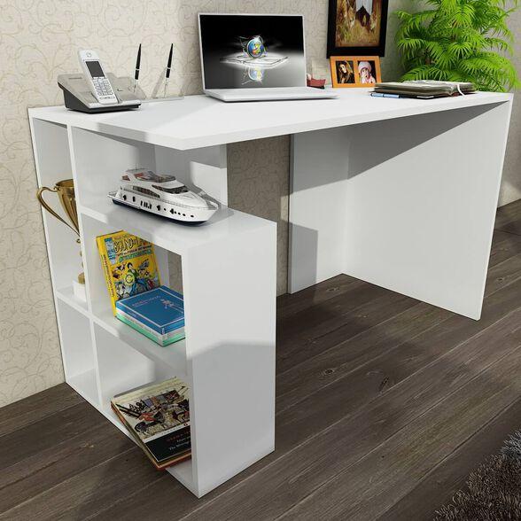 שולחן כתיבה מעוצב דגם Labran מבית Geva Design | צבע לבחירה_שולחן לבן עם תאים לבנים, , large image number null