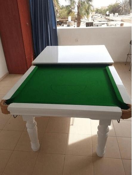שולחן סנוקר 7 פיט פלטת עץ מהגוני מלא עם רגליי עץ מלא דגם 92012, , large image number null