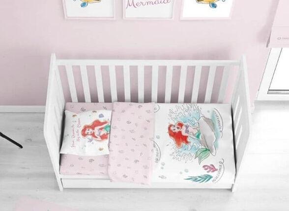סט למיטת תינוק 70*140 | דגם בת הים, , large image number null