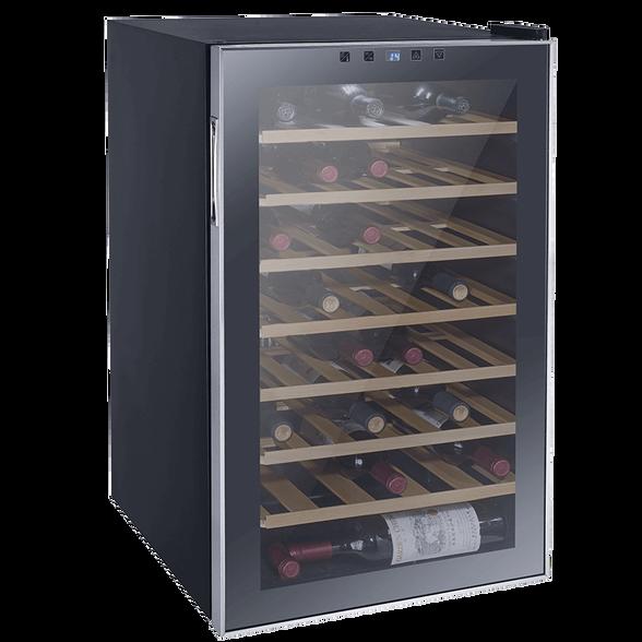 """מקרר יין מפואר 45 בקבוקים מדפי עץ פועל ע""""י מדחס איכותי ושקט מבית LANDERS דגם JC128W , , large image number null"""