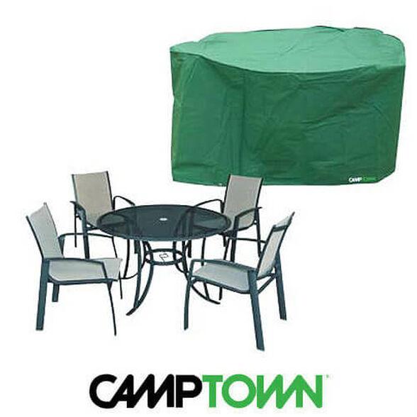 כיסוי איכותי לסט לשולחן עגול ו-5 כסאות לשמירה והגנה מפני נזקי גשם ושמש, , large image number null