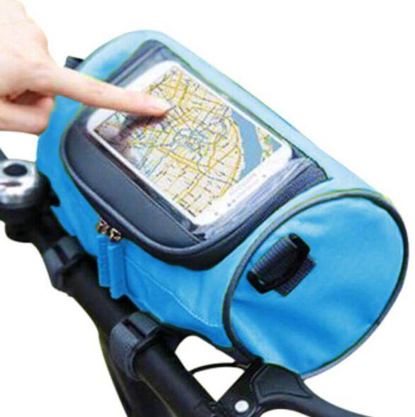 תיק ספורט  לתליה על האופניים הכולל תא אחסון גדול ותא קדמי עם חלון שקוף לטלפון, , large image number null