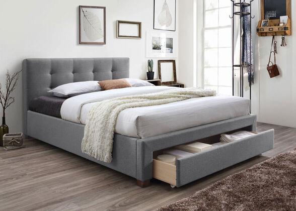 מיטה זוגית מרופדת עם מגירת אחסון HOME DECOR דגם סרינה , , large image number null