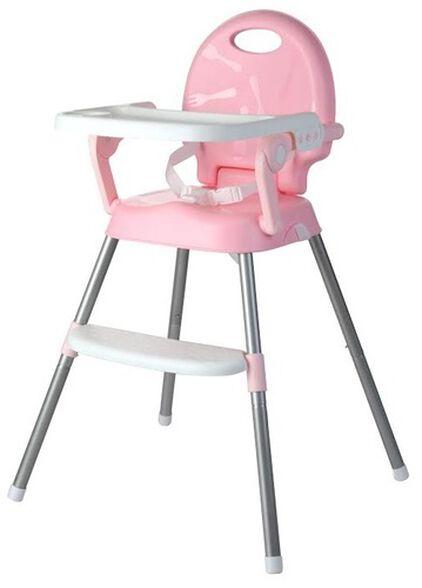 כיסא אוכל רב שלבי 3 ב 1 הופך לבוסטר, 2 מצבי גובה ומגש - ורוד, , large image number null