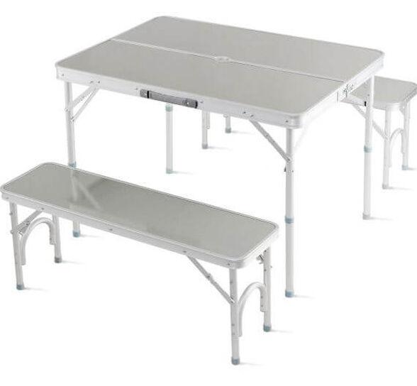 """שולחן מתקפל + זוג ספסלים 90X60 ס""""מ , , large image number null"""
