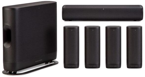 מערכת קולנוע ביתית אלחוטית Bluetooth  ו- Google Chromecast מבית Harman Kardon דגם HK-SURROUND , , large image number null