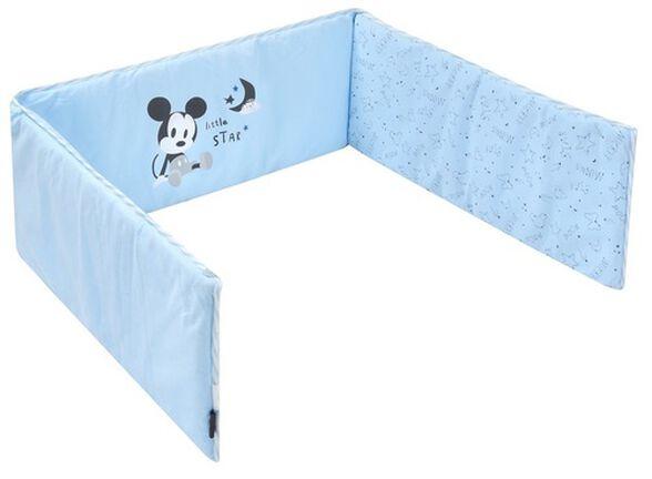 מגן ראש 100% כותנה למיטת תינוק - סטארי נייט מיקי כחול, , large image number null