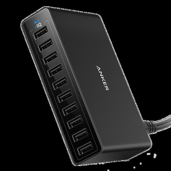 רכזת הטענה 10 יציאות Anker PowerPort 60W 10 USB, , large image number null