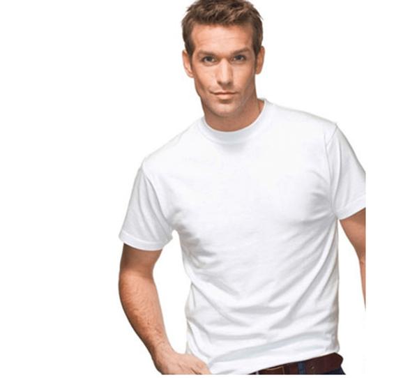 מארז שש חולצות טישירט יוניסקס עם צווארון עגול בצבע לבן מבית HANES, , large image number null