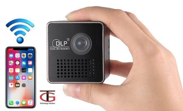 מקרן מולטימדיה אלחוטי נייד ועוצמתי עד 70 אינץ' בטכנולוגיית HD LED חיבור אלחוטי לכל סמארטפון מחשב או   דגם vrbkgt1 , , large image number null