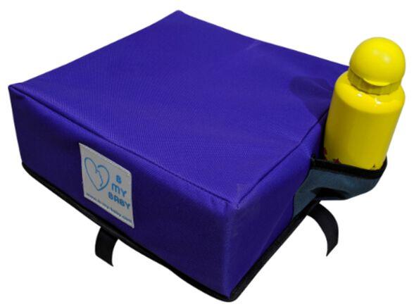 כרית הגבהה עם רצועות חיבור לתחתית הכיסא - סגול, , large image number null