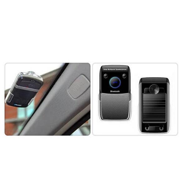 דיבורית בלוטוס לרכב סולארית נטענת תמיכה ב-2 מכשירים מתאימה לרכב או למשרד התקנה פשוטה ומהירה כולל התאמה , , large image number null