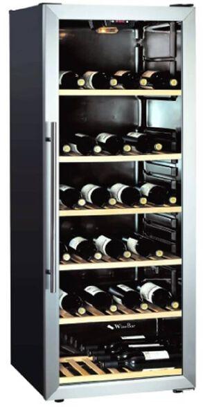 מקרר יין 100 בקבוקים WINEBAR WBS-270T   ניתן לשדרג למדפי עץ ב349 ₪ בלבד! , , large image number null