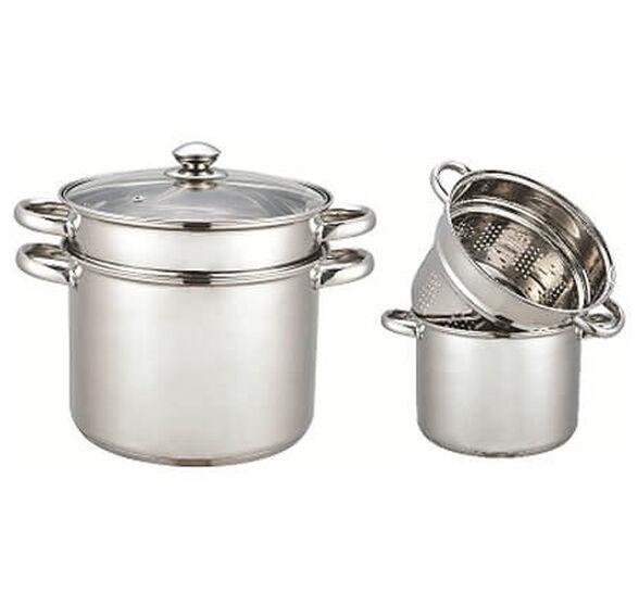 לבשל כמו איטלקים! סיר פסטה 3 חלקים 7 ליטר עשוי נירוסטה, מבית  XENON, , large image number null