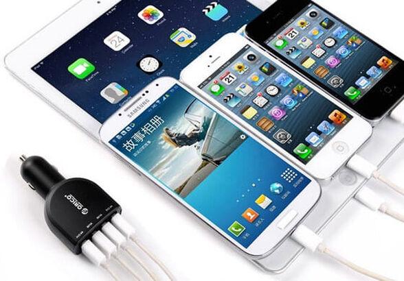 מטען לרכב ORICO מקורי חזק ומהיר עם 4 כניסות USB בעוצמה של 6.8A 34W כולל צ'יפ TI לניהול הטעינה, , large image number null