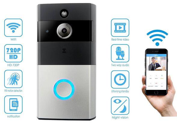 אינטרקום חכם IP  אלחוטי תומך APPLE/ANDROID  משולב מצלמה עם אפשרות צפייה ושליטה מכל טלפון חכם או טאב , , large image number null