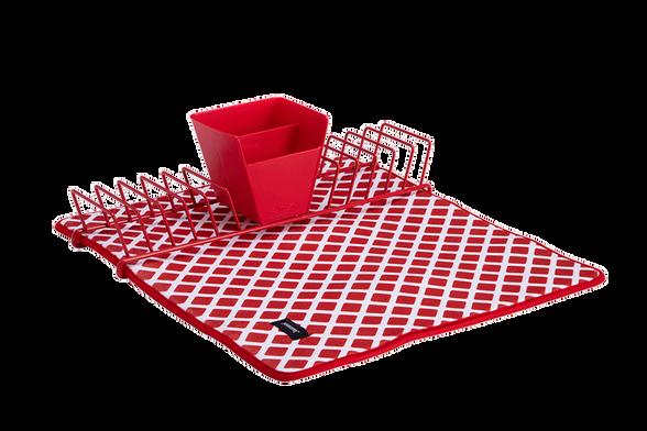 משטח ומתקן לייבוש כלים – אדום. משטח לייבוש כלים משולב משטח מיקרופייבר איכותי לספיגת נוזלים, , large image number null