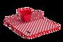 משטח ומתקן לייבוש כלים – אדום. משטח לייבוש כלים משולב משטח מיקרופייבר איכותי לספיגת נוזלים