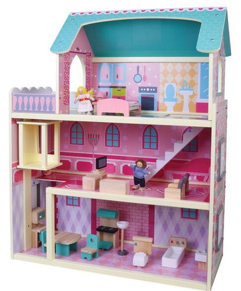 בית בובות רב קומות עם מעלית ואיבזור מלא, , large image number null