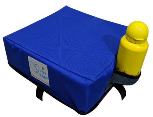 כרית הגבהה עם רצועות חיבור לתחתית הכיסא - כחול, , large image number null